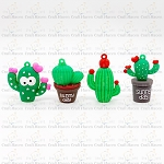 Cactus Charms (Set of 4)